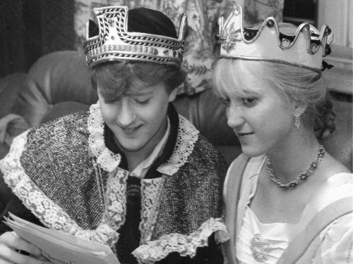 King Edwin and Queen Lucy - Madrigal Dinner, December 1981 - Version 2