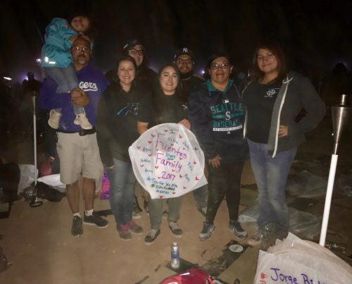 Alyssa and her family at the Rise Lantern ceremony