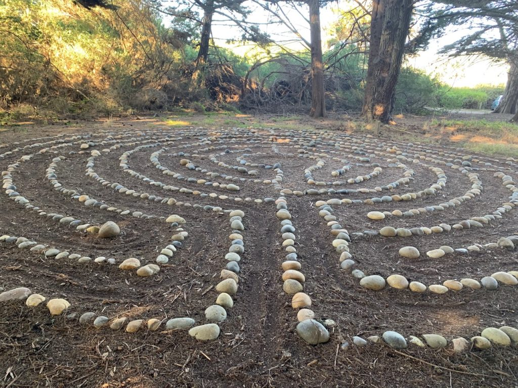 The rock labyrinth at Commonweal